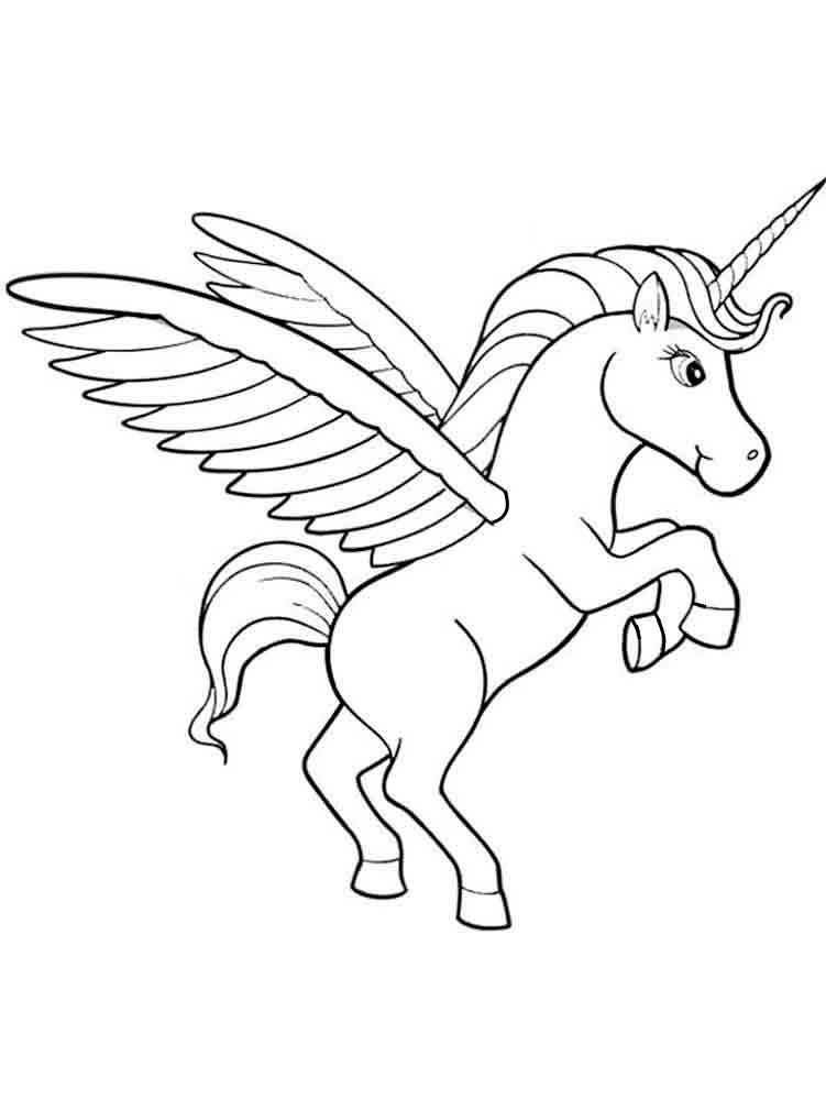 Единорог летит » Раскраски для детей распечатать бесплатно ...