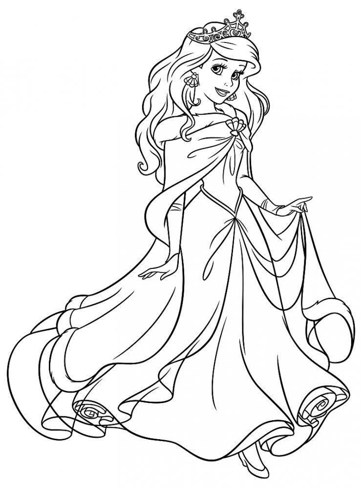 Русалочка принцесса » Раскраски для детей распечатать ...