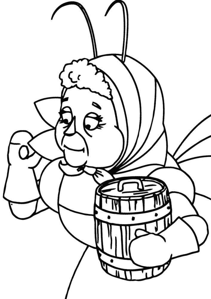 Баба Капа с бочонком » Раскраски для детей распечатать ...