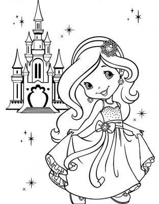 Принцесса » Раскраски для детей распечатать бесплатно или ...
