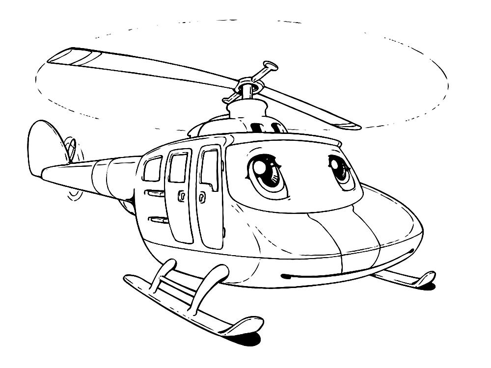 Вертолет с глазками » Раскраски для детей распечатать ...