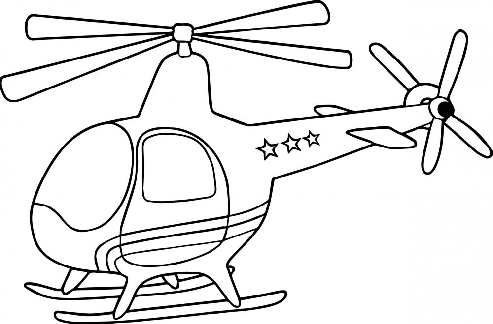 Вертолет со звездами » Раскраски для детей распечатать ...