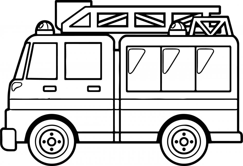Пожарная машина » Раскраски для детей распечатать ...