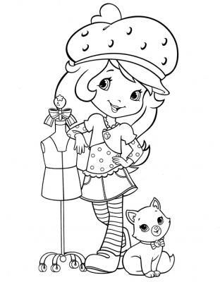 Раскраска девочка в шапке - скачать раскраску из раздела ...
