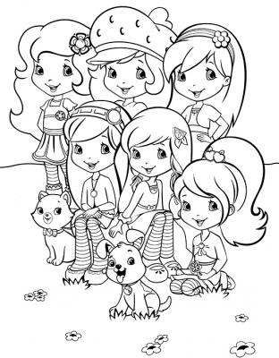 Подружки куклы и их питомцы » Раскраски для детей ...