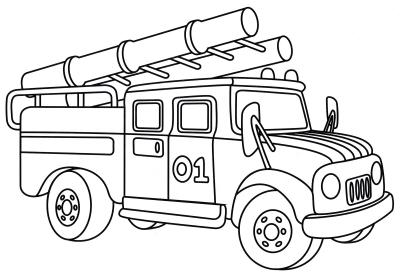 Пожарные машины » Раскраски для детей распечатать ...