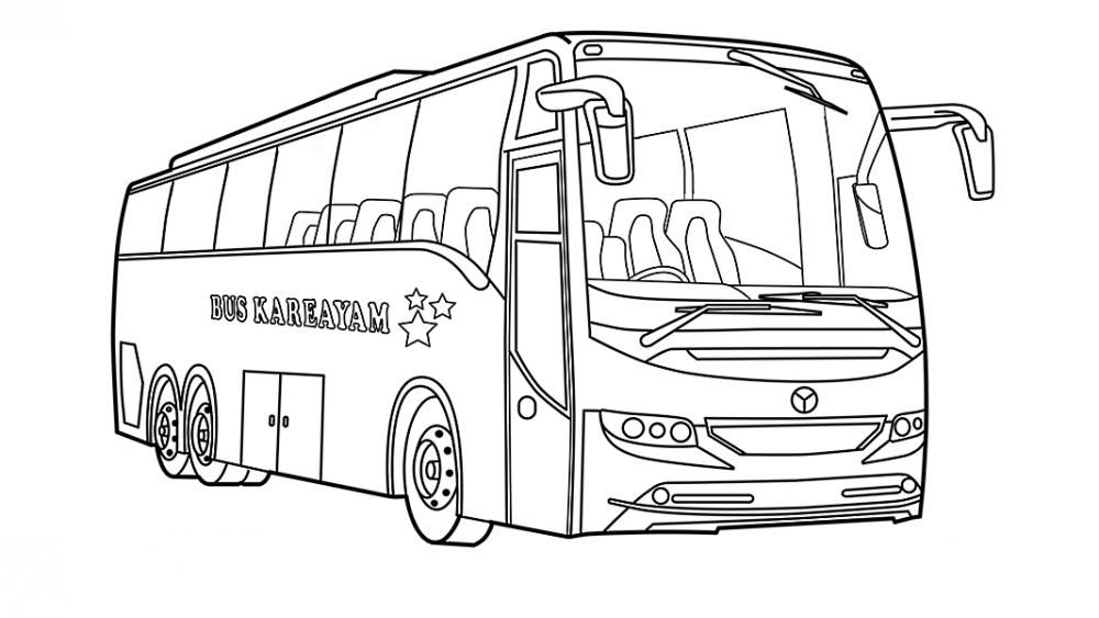 Автобус » Раскраски для детей распечатать бесплатно или ...