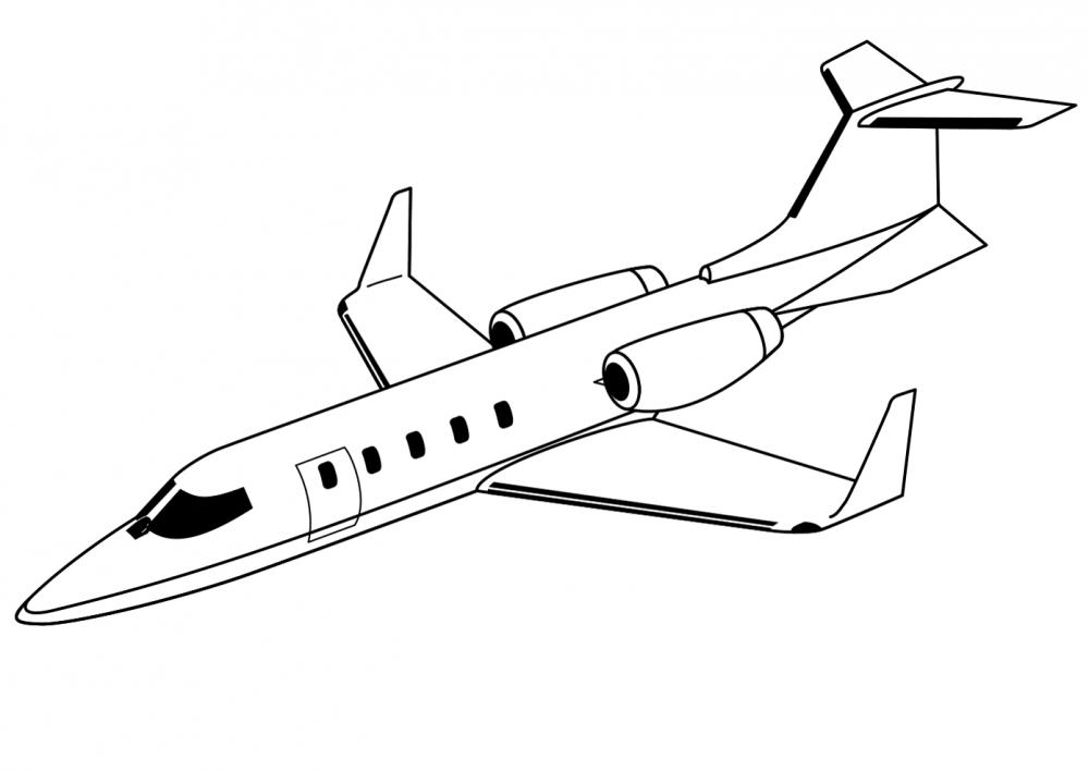Скоростной самолет » Раскраски — для детей, девочек и ...