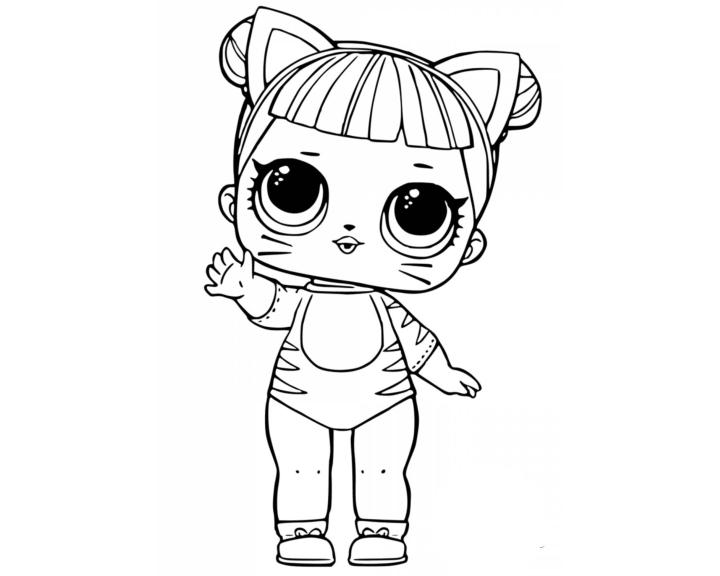 Раскраска кошка лол - скачать раскраску из раздела кукла ...