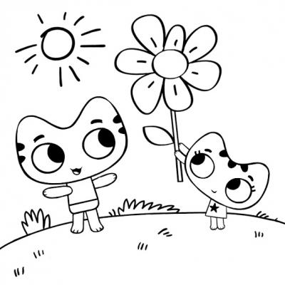 Котя и Катя » Раскраски для детей распечатать бесплатно ...