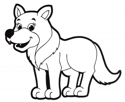 Раскраска добрый волк, волк, доброта, животное - скачать ...